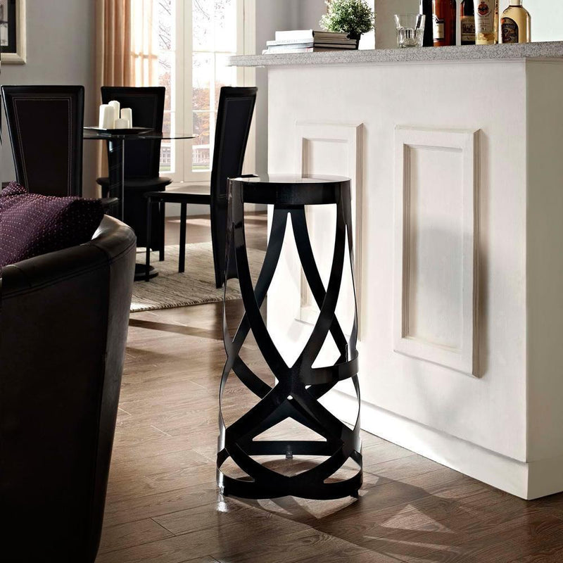 Modway Ribbon Bar Stool - Black