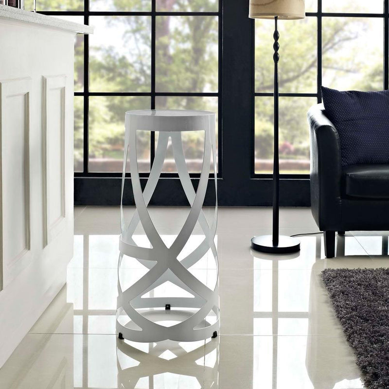 Modway Ribbon Bar Stool - White