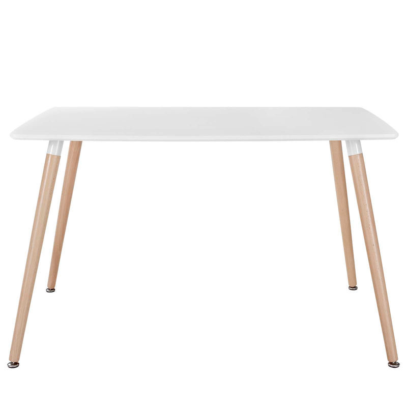 Modway Field Rectangle Dining Table - White