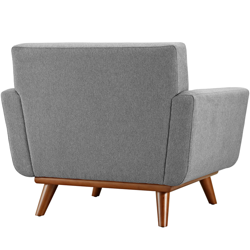 Modway Engage Upholstered Armchair - Expectation Gray