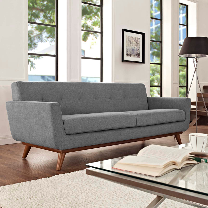 Modway Engage Upholstered Sofa - Expectation Gray