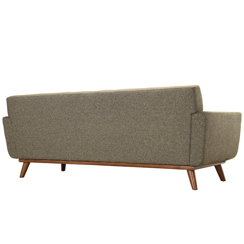 Modway Engage Upholstered Sofa - Oatmeal Tweed