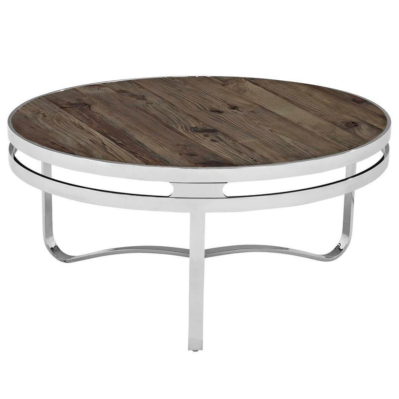Modway Provision Wood Top Coffee Table - Brown