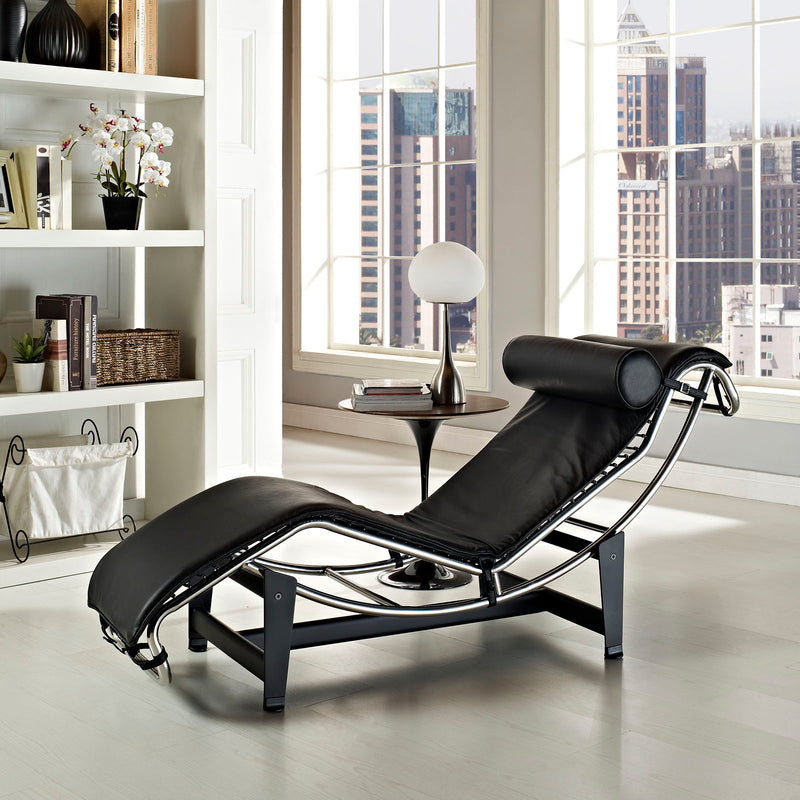 Modway Charles Leather Chaise Lounge