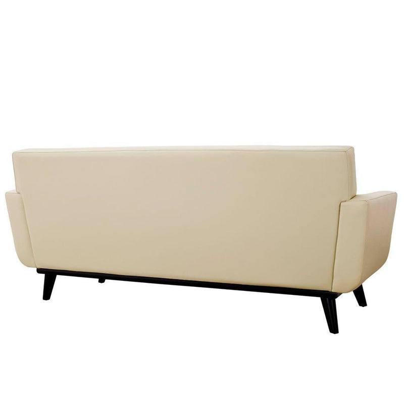 Modway Engage Bonded Leather Loveseat - Beige