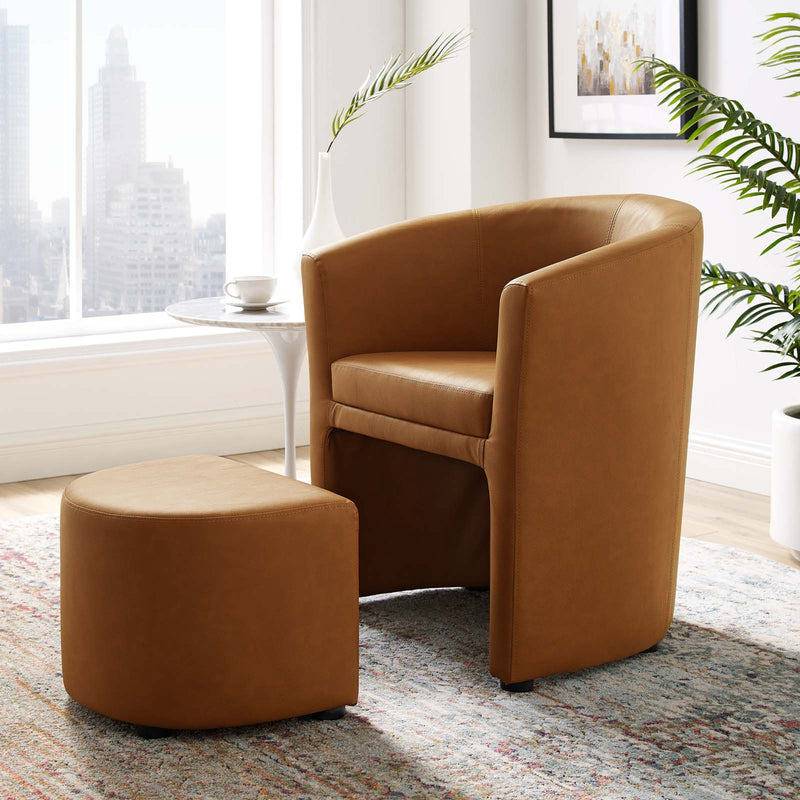 Divulge Armchair and Ottoman by Modway
