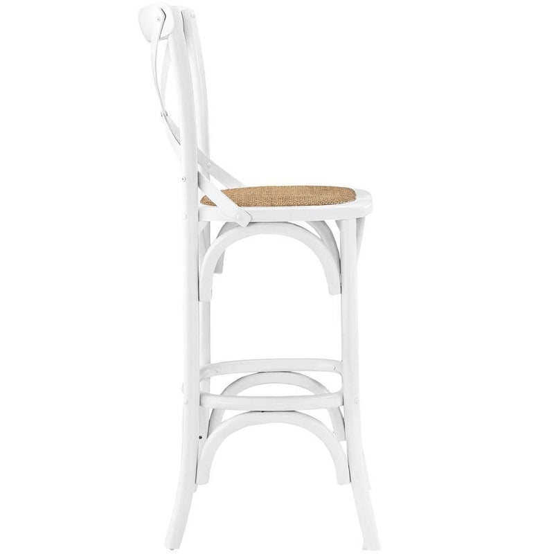 Modway Gear Bar Stool - White