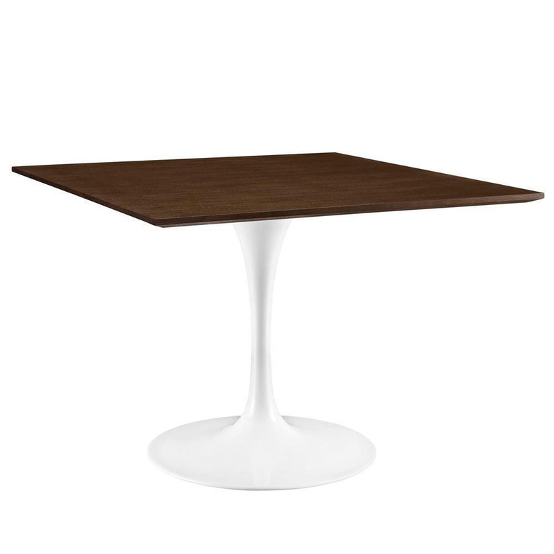 "Modway Lippa 40"" Square Walnut Dining Table - Walnut"