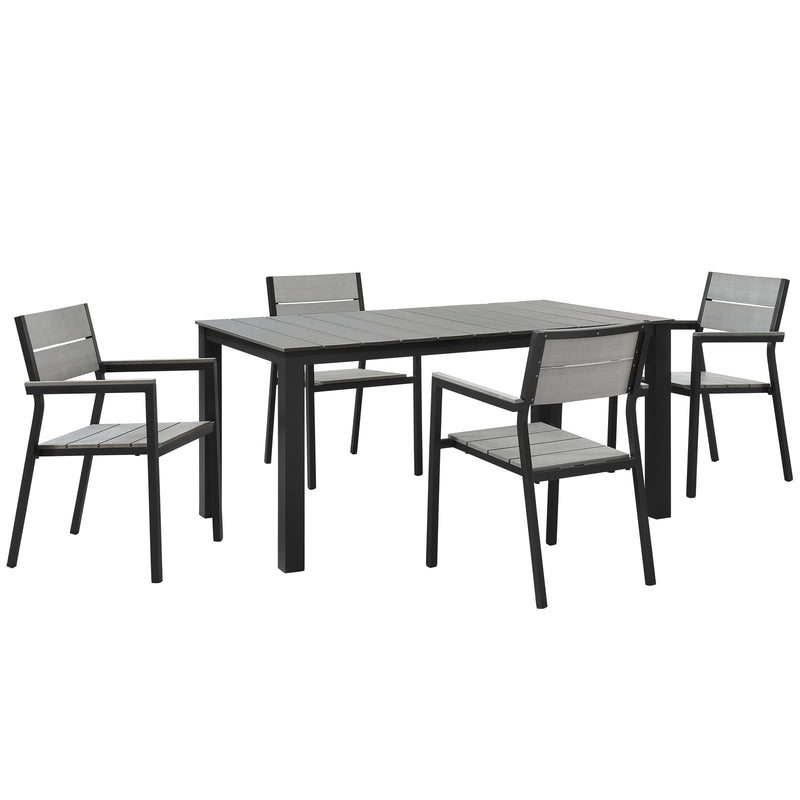Modway Maine 5 Piece Outdoor Patio Dining Set - EEI-1747
