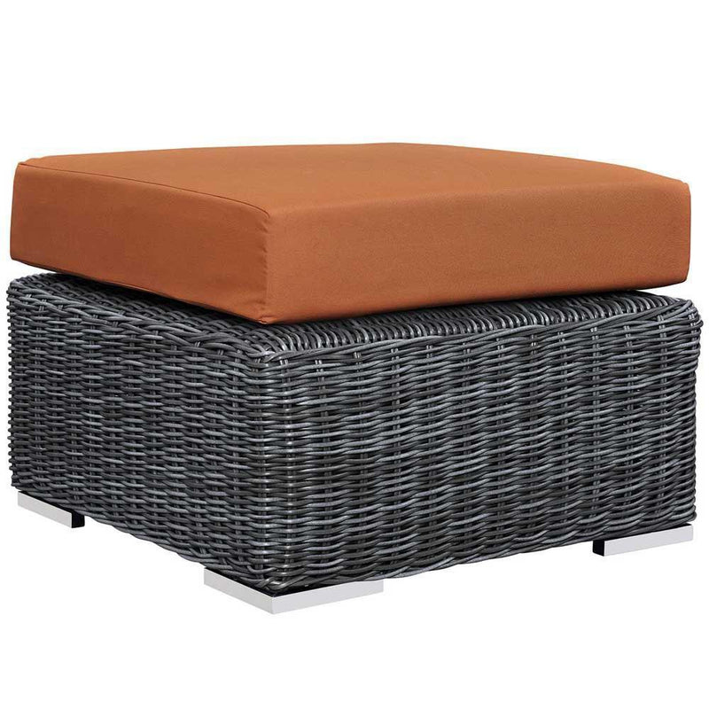 Modway Summon Outdoor Patio Sunbrella Ottoman - Canvas Tuscan