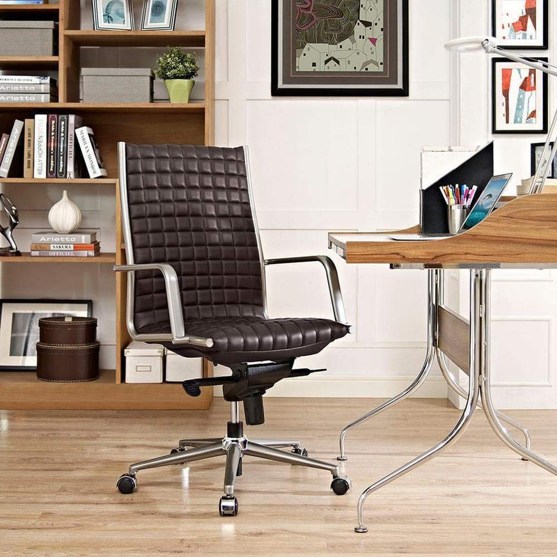 Modway Pattern Highback Office Chair - Brown