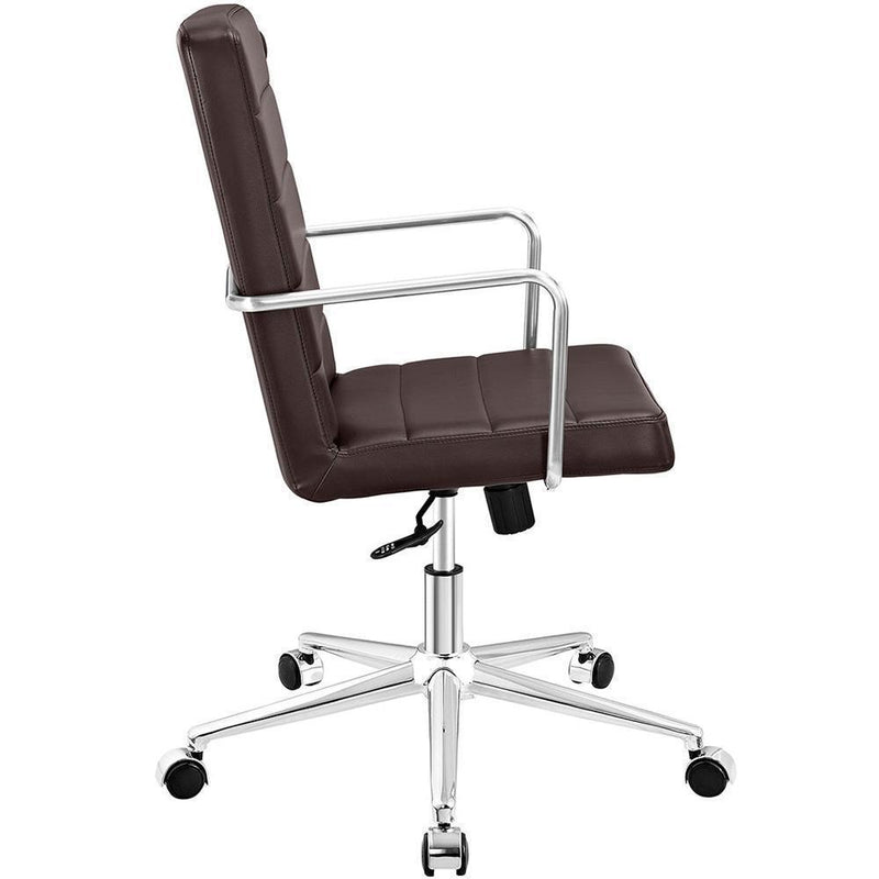 Modway Cavalier Highback Office Chair - Brown