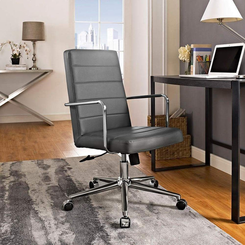 Modway Cavalier Highback Office Chair - Gray