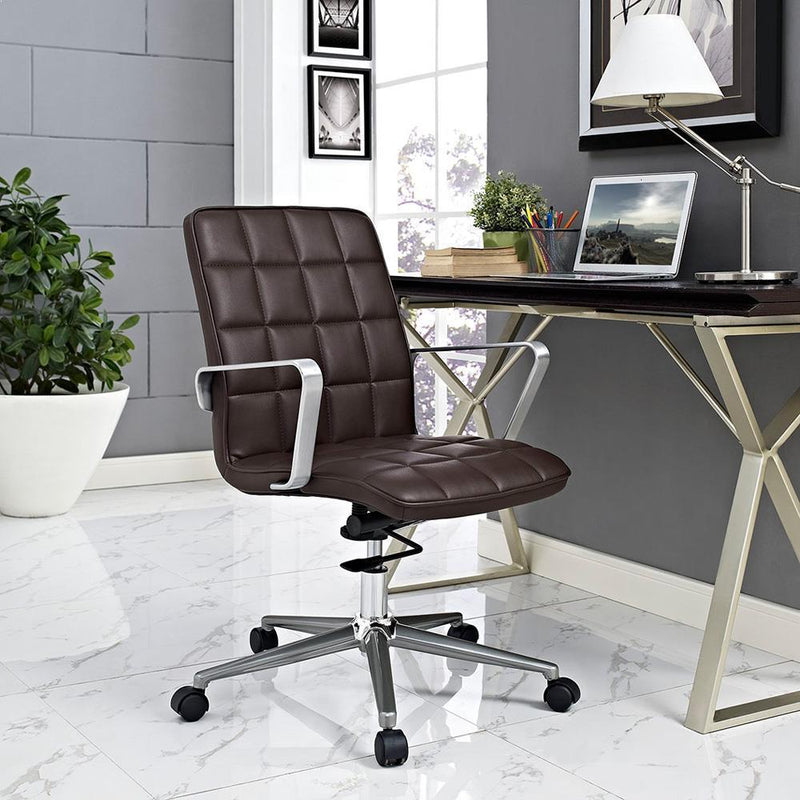 Modway Tile Office Chair - Brown
