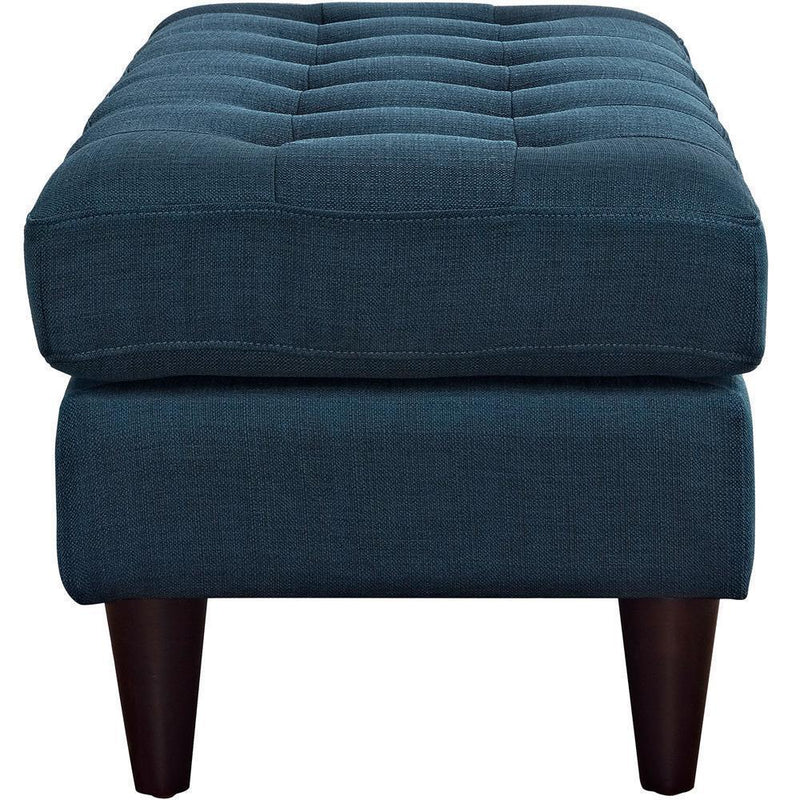 Modway Empress Upholstered Fabric Bench - Azure