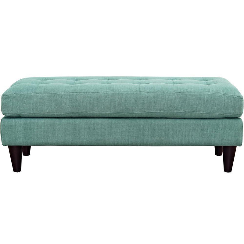 Modway Empress Upholstered Fabric Bench - Laguna