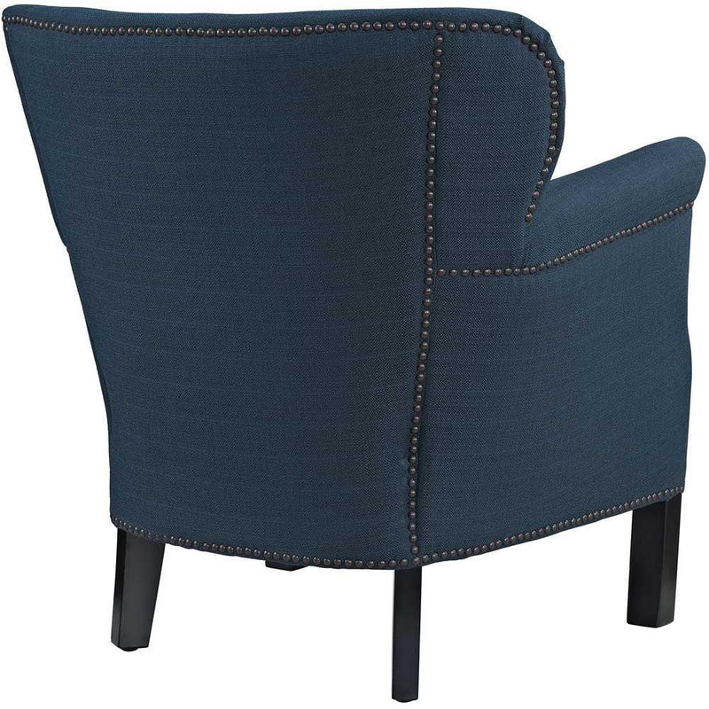 Modway Key Upholstered Fabric Armchair - Azure