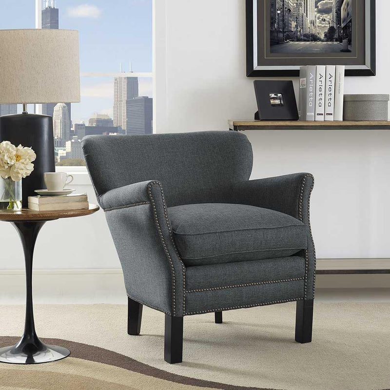 Modway Key Upholstered Fabric Armchair - Gray