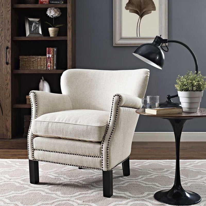 Modway Key Upholstered Fabric Armchair - Sand