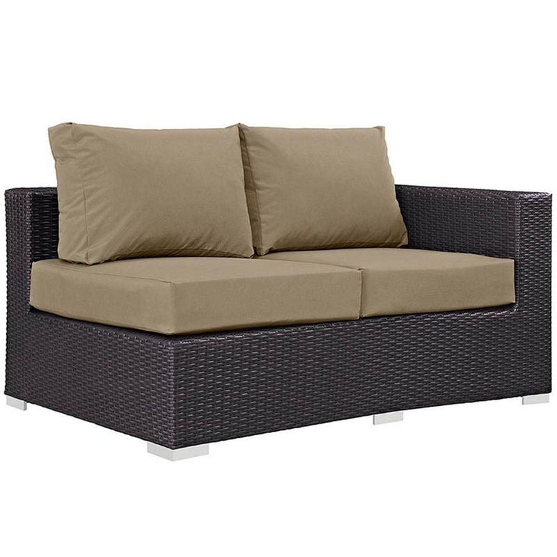 Modway Convene 11 Piece Outdoor Patio Sectional Set - Espresso Mocha