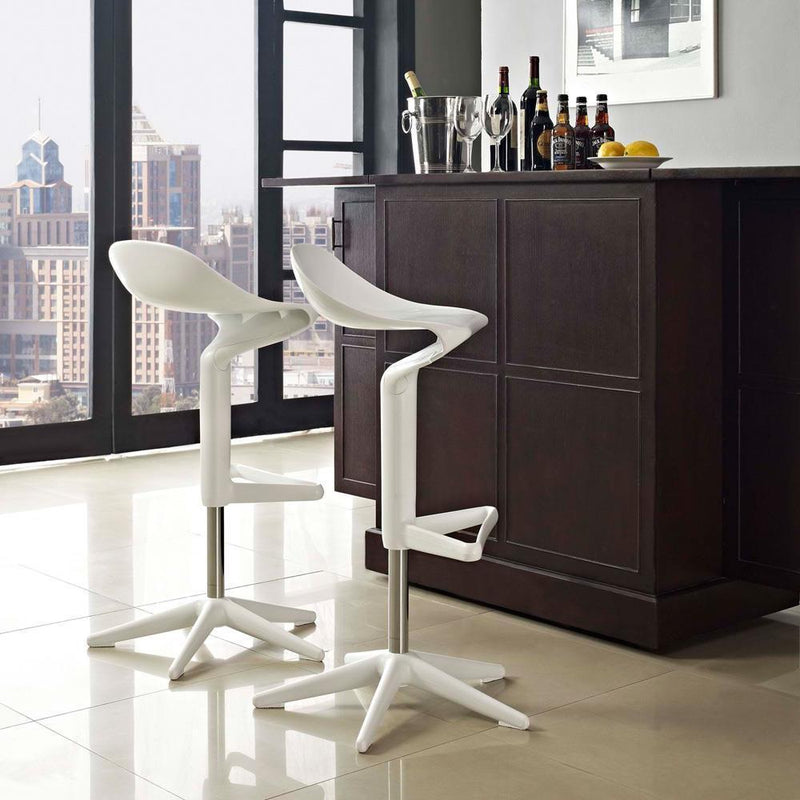 Modway Flare Bar Stool - White