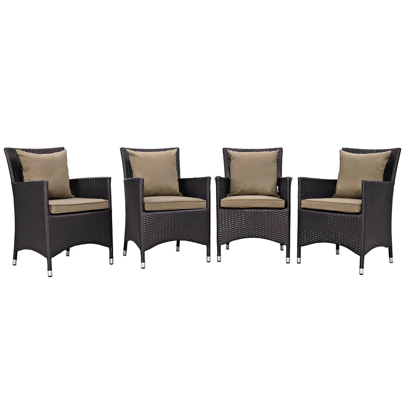 Modway Convene 4 Piece Outdoor Patio Dining Set