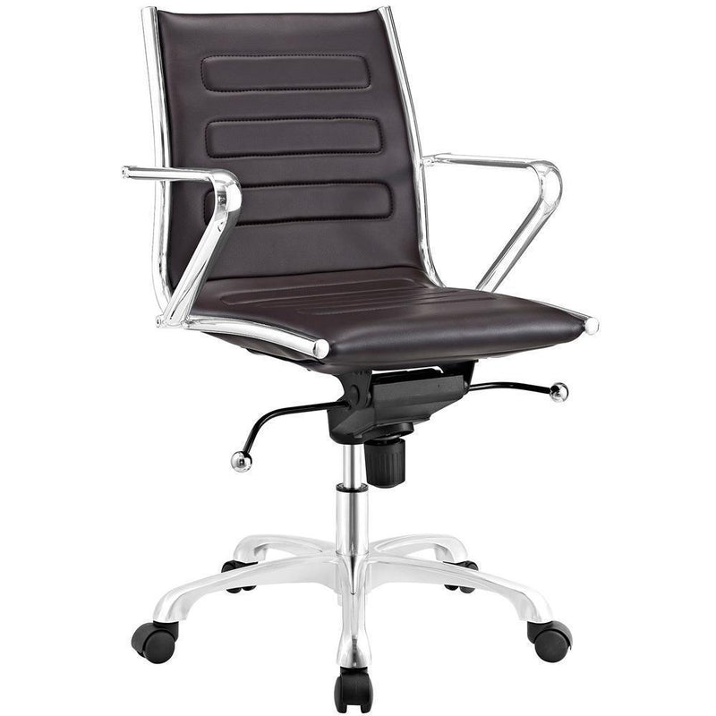 Modway Ascend Mid Back Office Chair - Brown