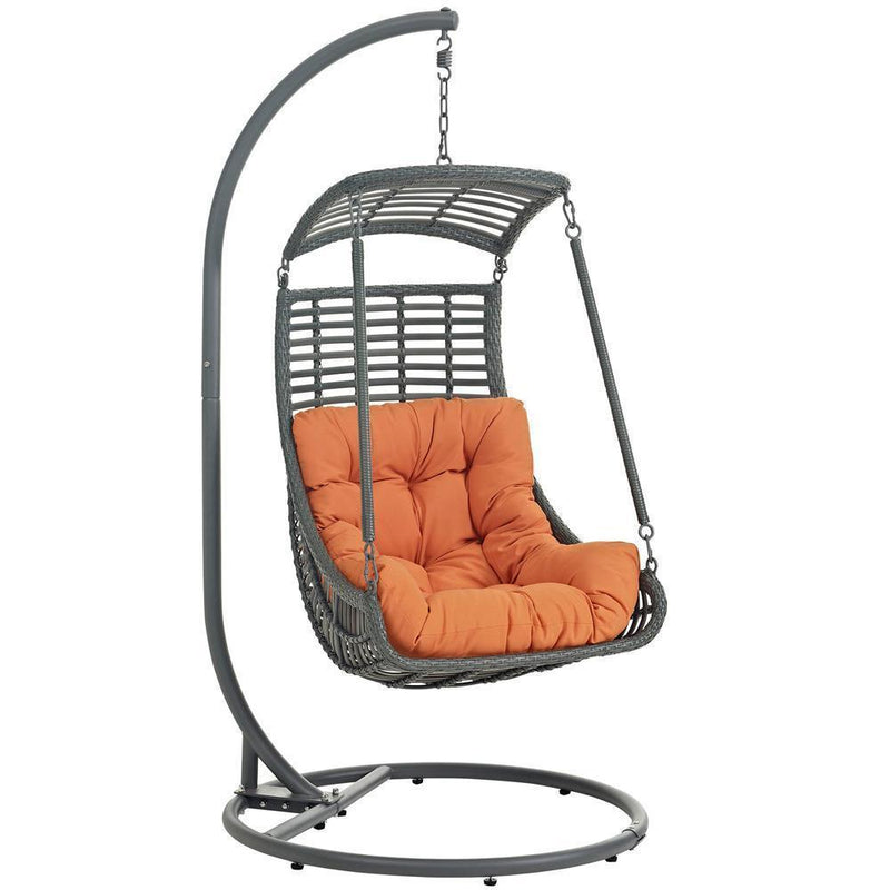 Modway Jungle Outdoor Patio Swing Chair With Stand