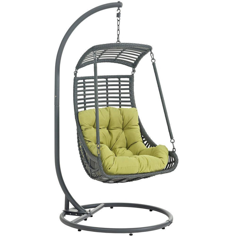 Modway Jungle Outdoor Patio Swing Chair With Stand - Peridot