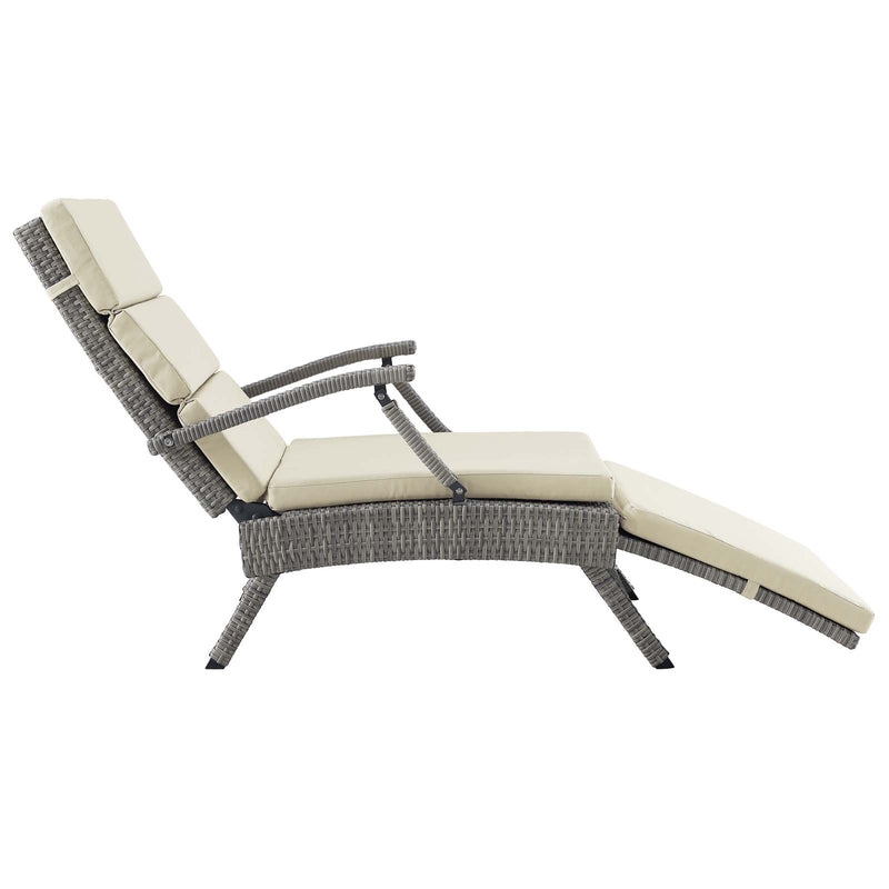 Modway Envisage Chaise Outdoor Patio Wicker Rattan Lounge Chair
