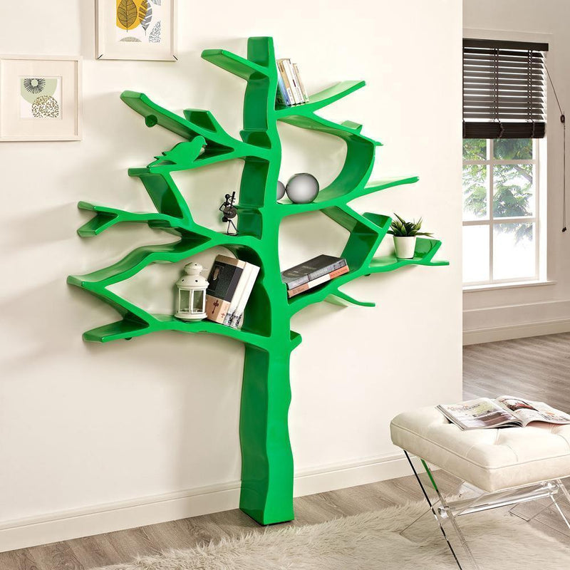 Modway Knowledge Bookcase - Green