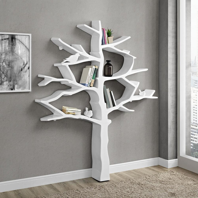 Modway Knowledge Bookcase - White