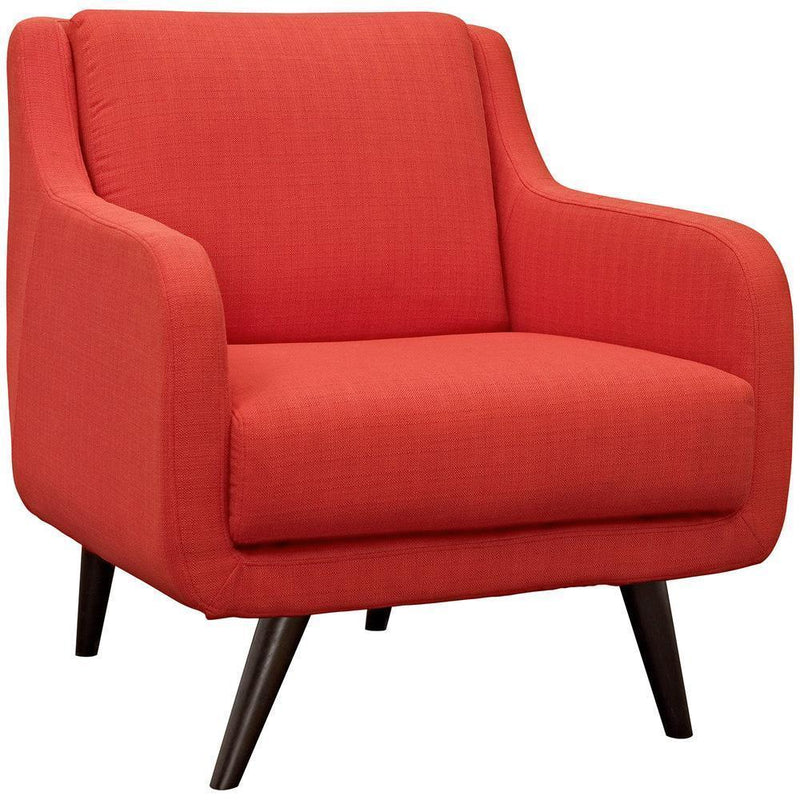 Modway Verve Armchairs Set of 2 - Atomic Red