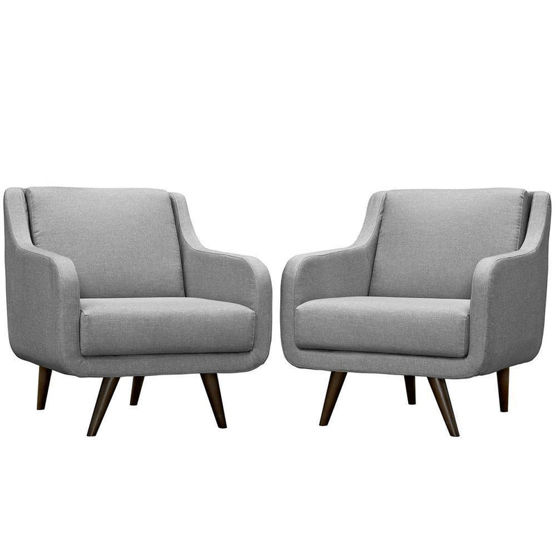 Modway Verve Armchairs Set of 2 - Light Gray