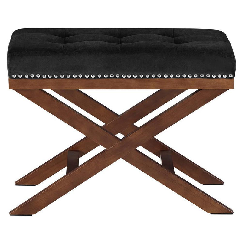 Modway Facet Wood Bench - Black