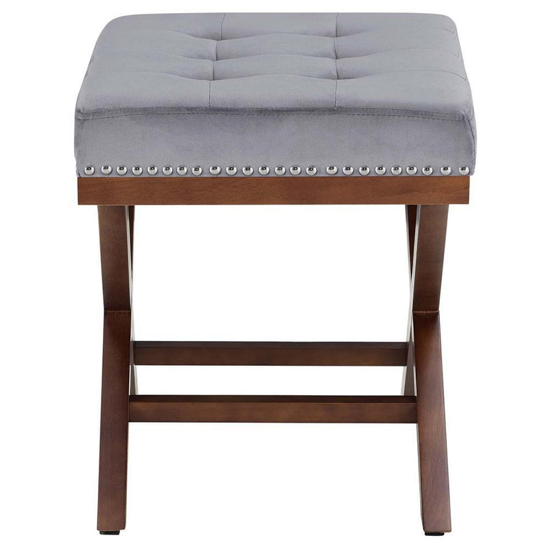 Modway Facet Wood Bench - Gray