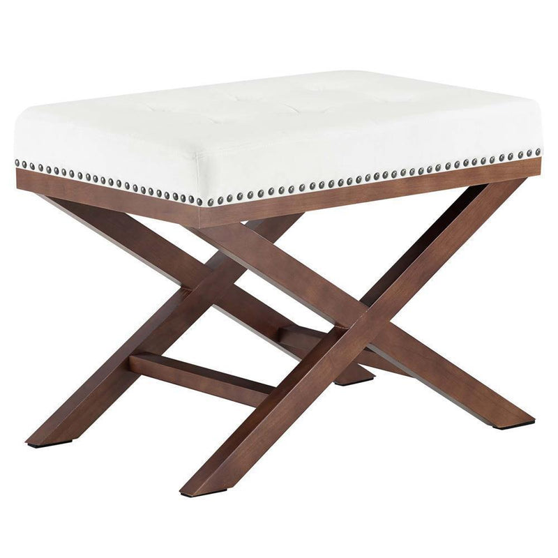 Modway Facet Wood Bench - Ivory