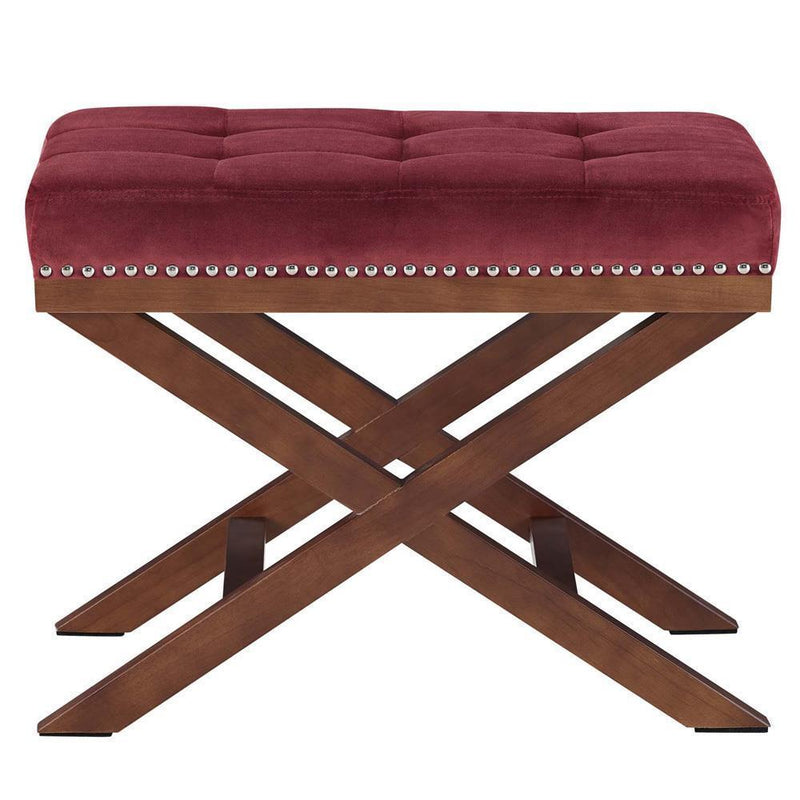 Modway Facet Wood Bench - Maroon