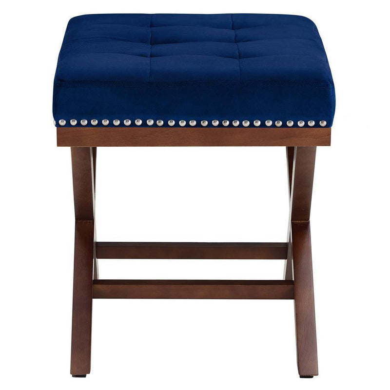 Modway Facet Wood Bench - Navy