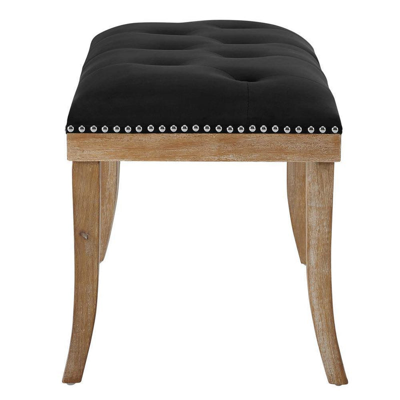 Modway Expression Upholstered Fabric Bench - Black