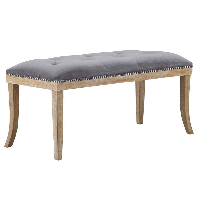 Modway Expression Upholstered Fabric Bench - Gray