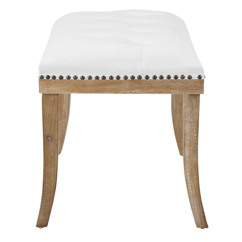 Modway Expression Upholstered Fabric Bench - Ivory