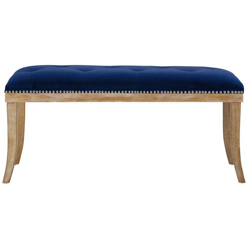 Modway Expression Upholstered Fabric Bench - Navy