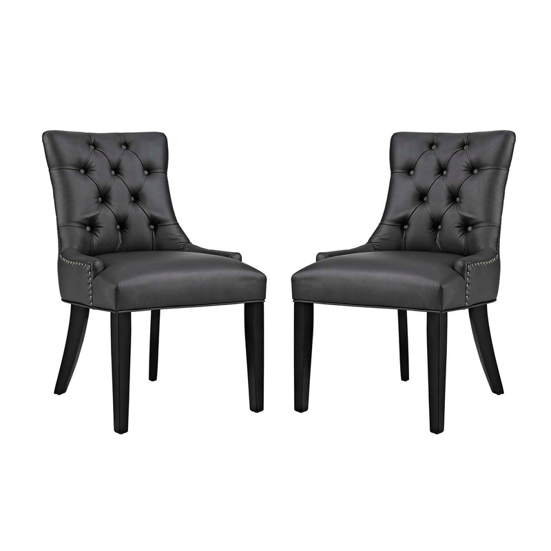 Modway Regent Dining Side Chair Vinyl Set of 2