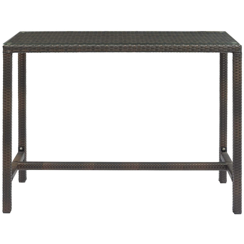 Modway Conduit Outdoor Patio Wicker Rattan Large Bar Table