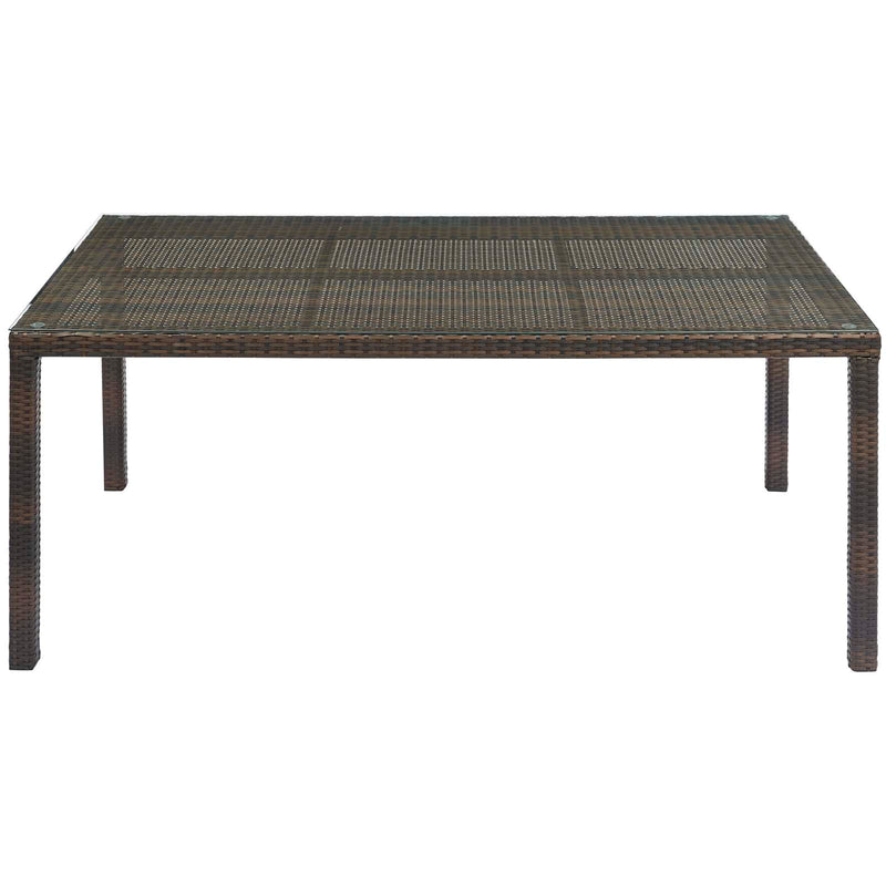 "Modway Conduit 70"" Outdoor Patio Wicker Rattan Dining Table"