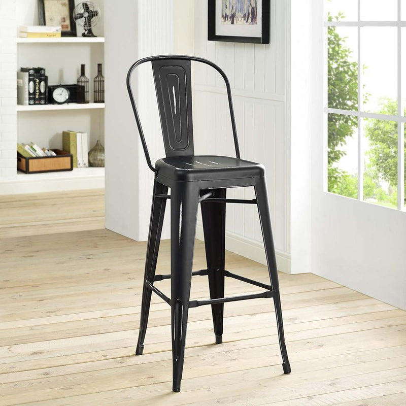 Modway Promenade Bar Side Stool - Black