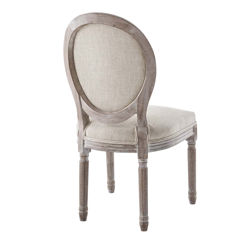 Modway Emanate Vintage French Upholstered Fabric Dining Side Chair