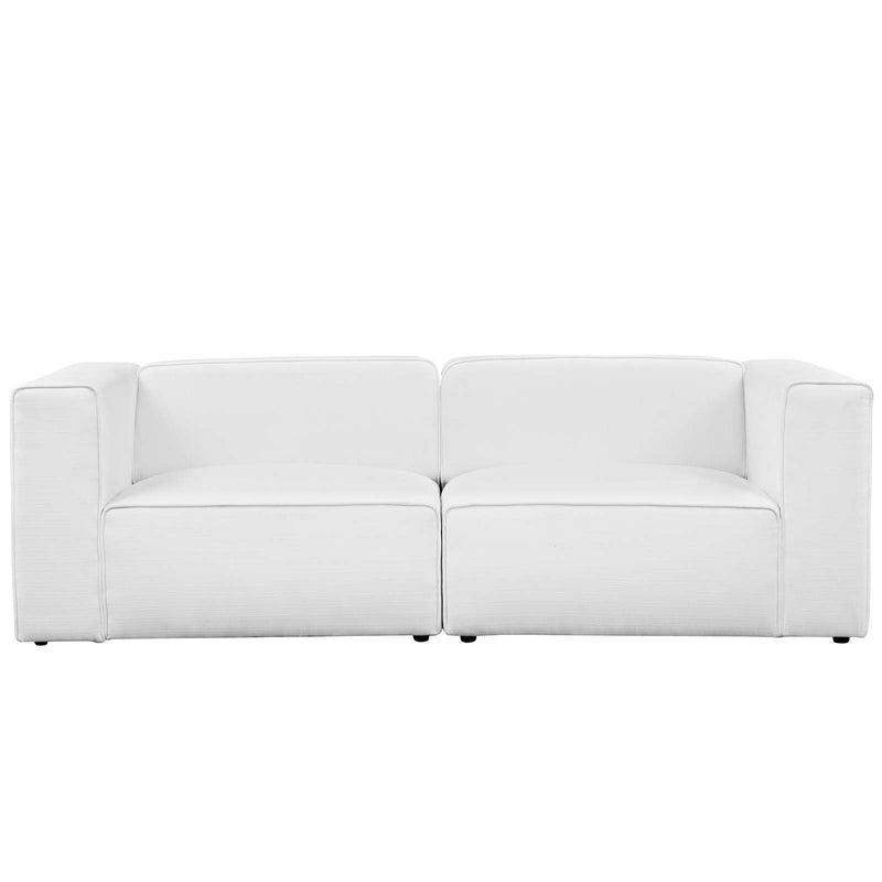 Modway Mingle 2 Piece Upholstered Fabric Sectional Sofa Set