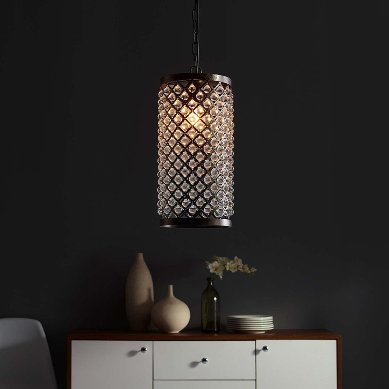 Modway Reflect Glass and Metal Pendant Chandelier